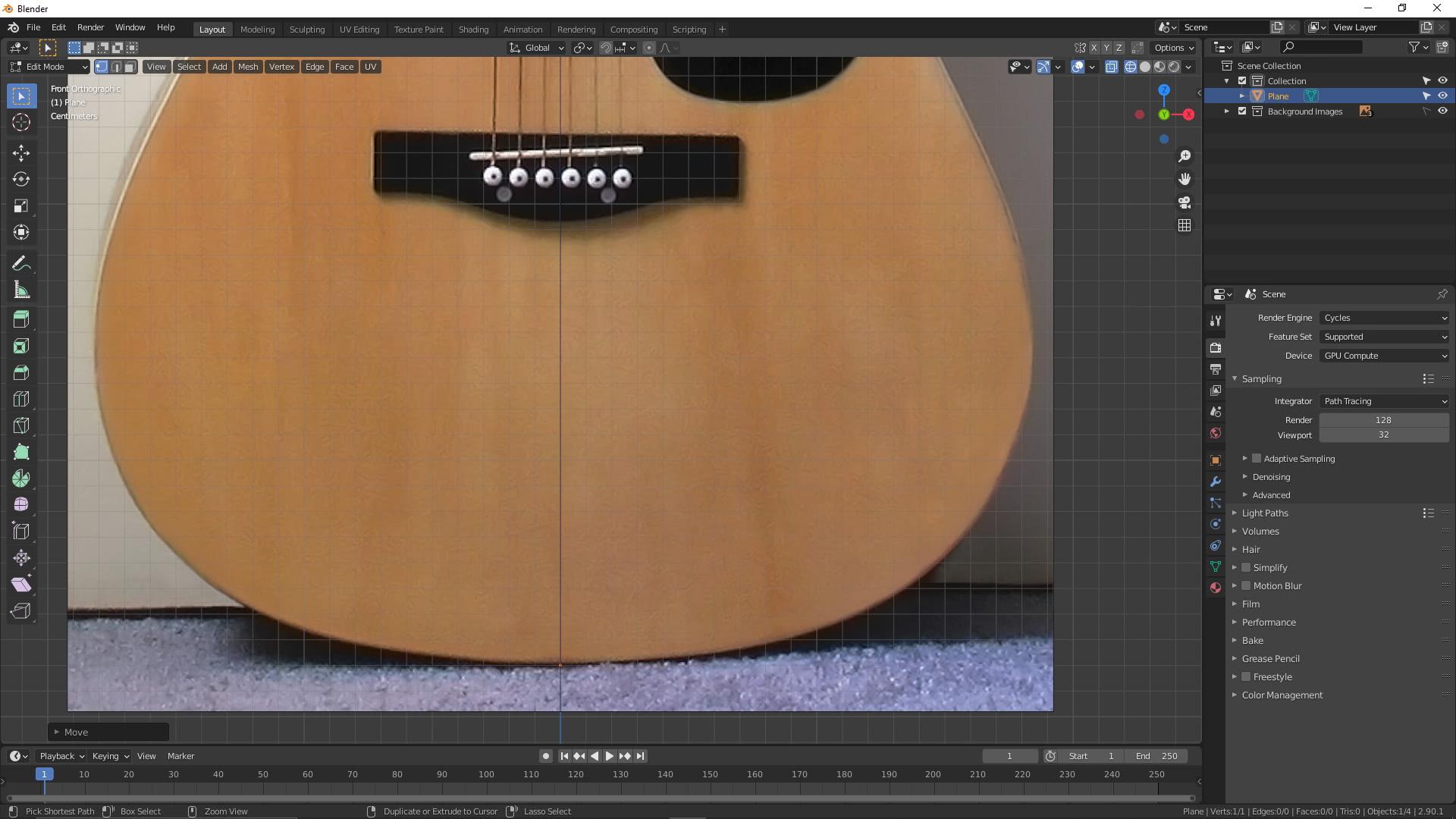 Blender: Akustikgitarre