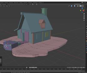 Blockhütte in Blender für Game Designer