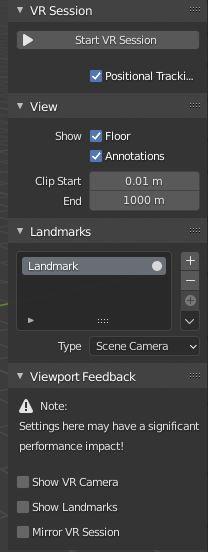 Blender VR Session