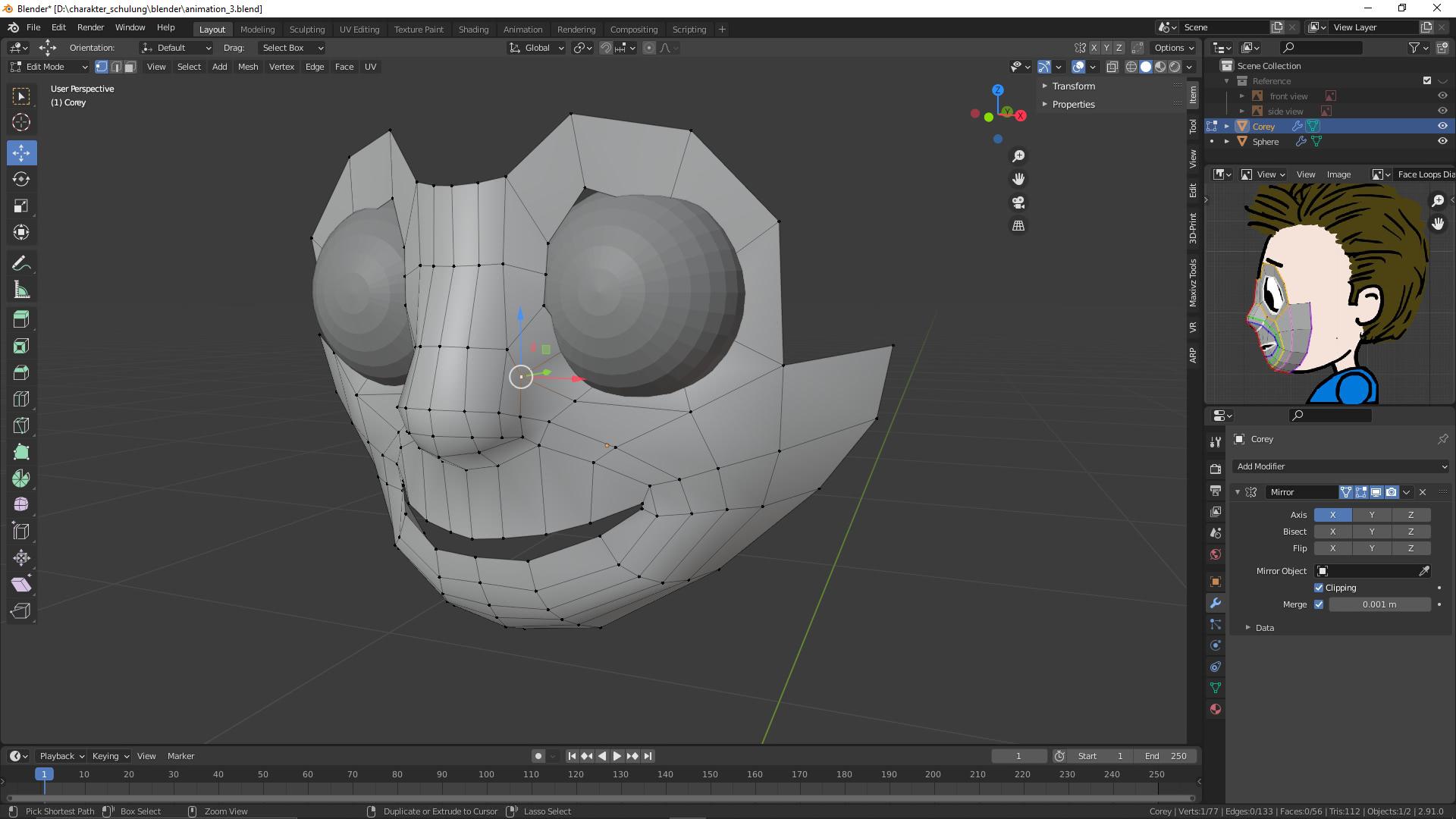 3D-animierte Figur