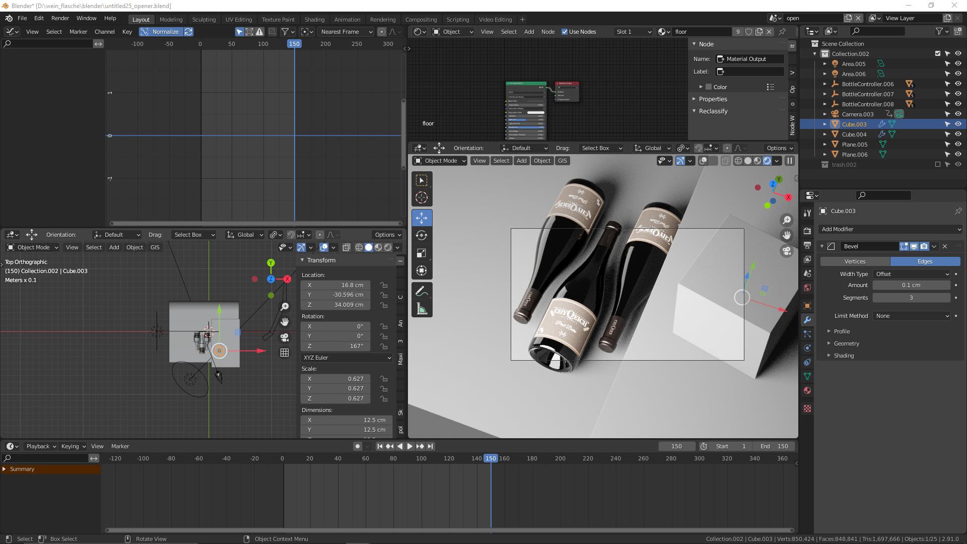 Produkt-Animation Gestaltung in Blender