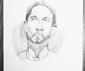 Ich lerne gerade Porträt zeichnen und heute ist Tag 40 der Reise!