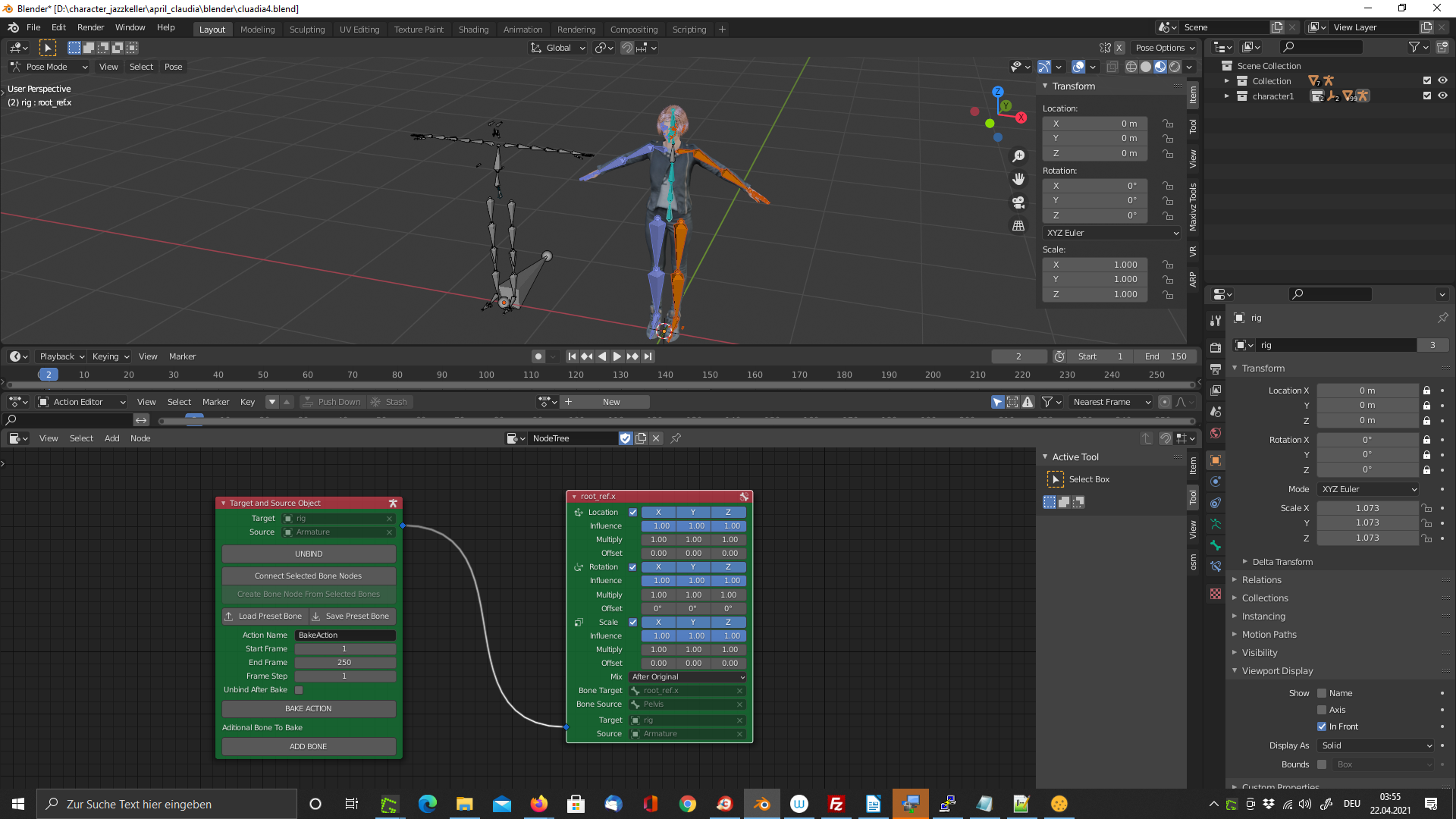 Retarget Animation Node