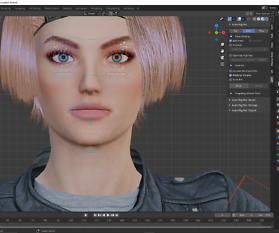 3D Charakterdesign: Claudia streckt die Zunge raus