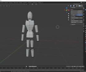 Modelling: Gliederpuppe in Blender