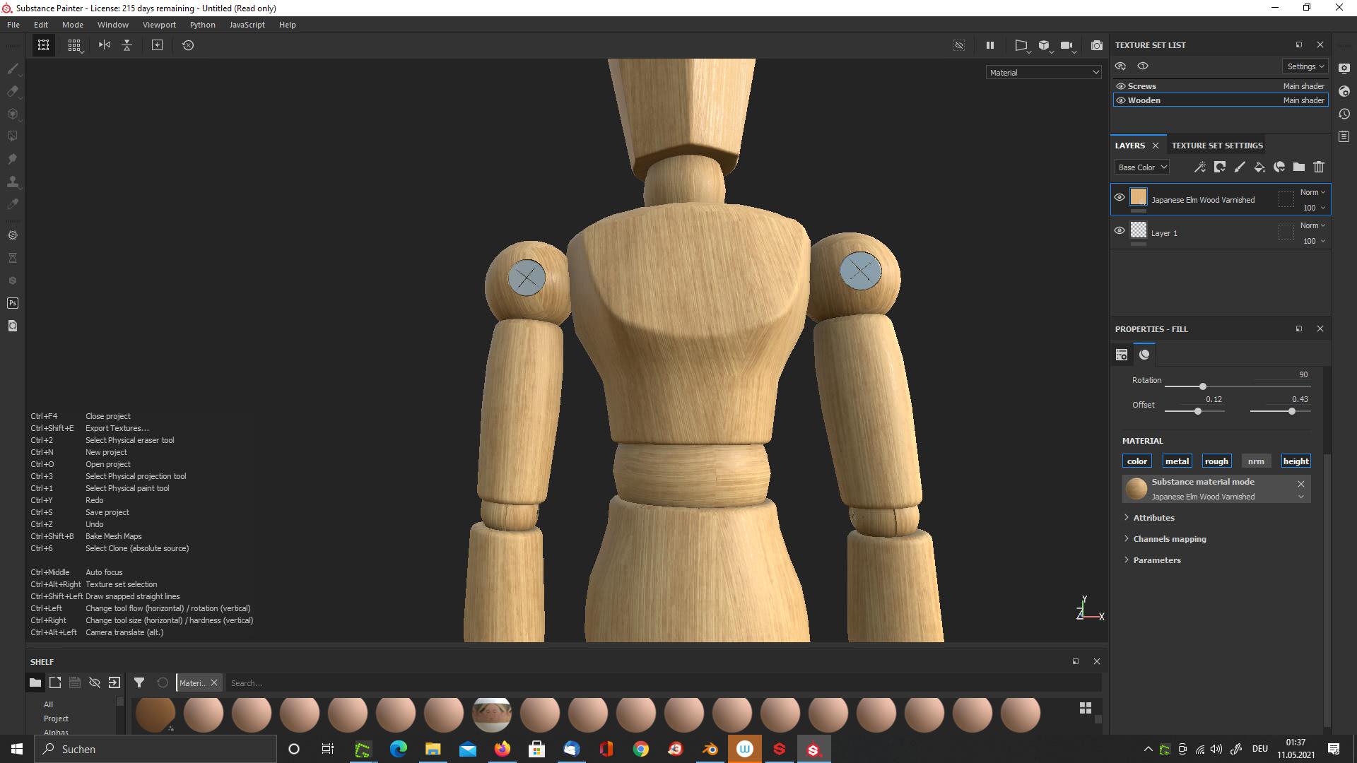 3D-Materialien für unser Wooden Mannequin 2