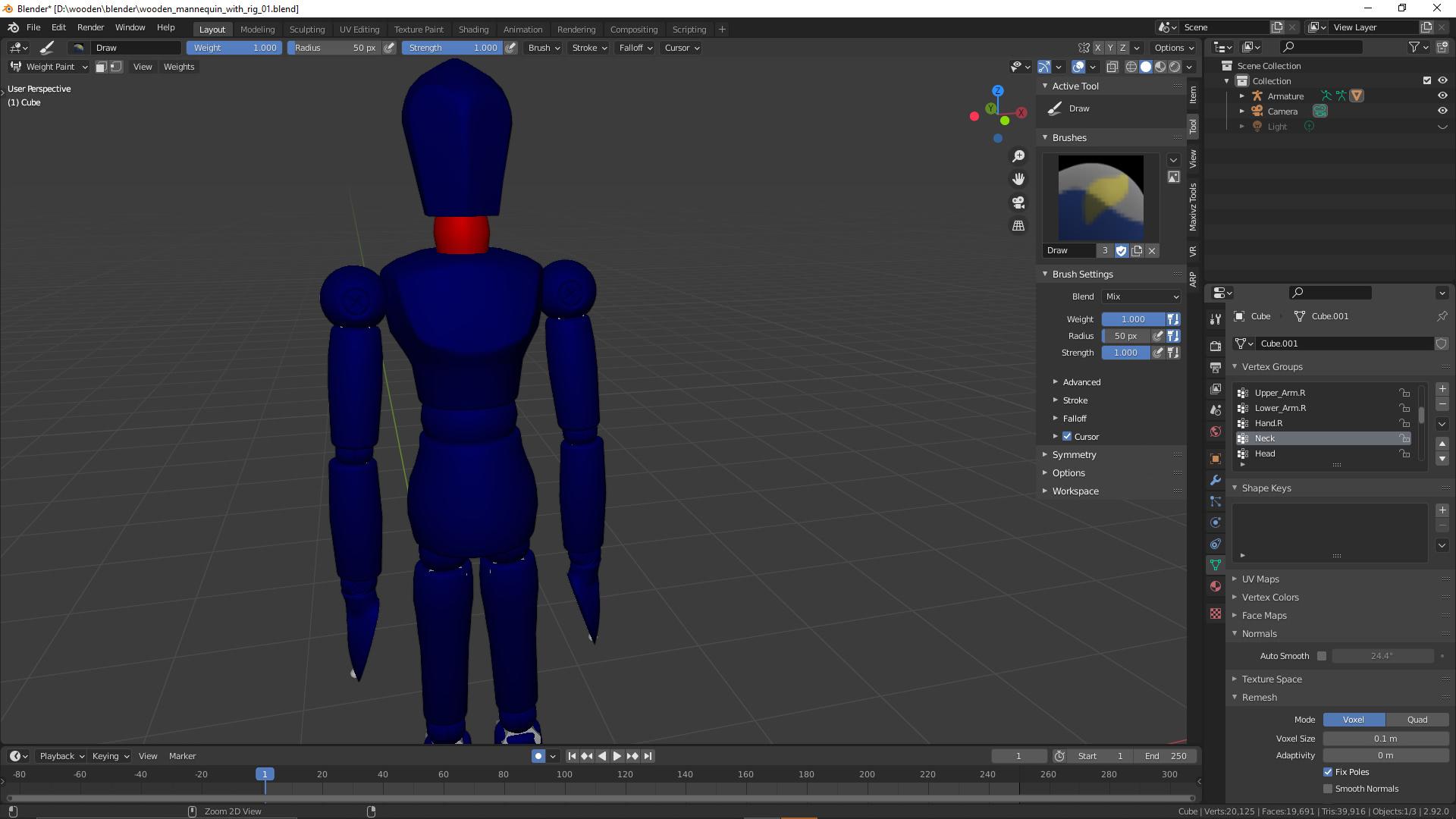 Knochen mit 3D-Figur verbinden