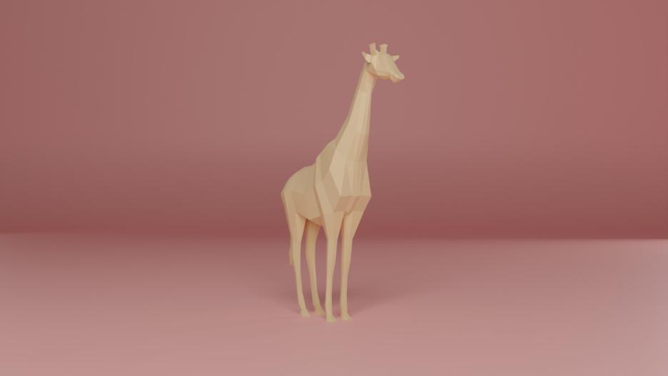 Low Poly Giraffe / Botschafterin des Herzens 1