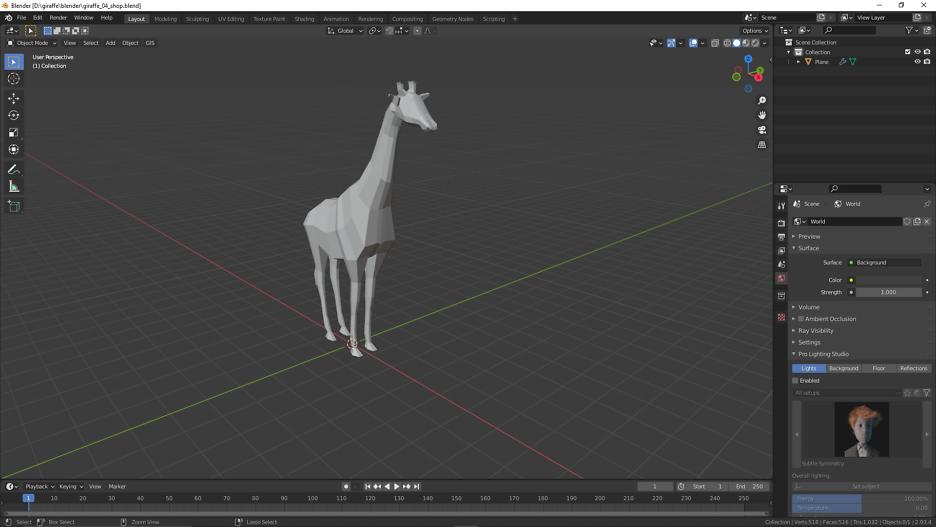 Low Poly Giraffe