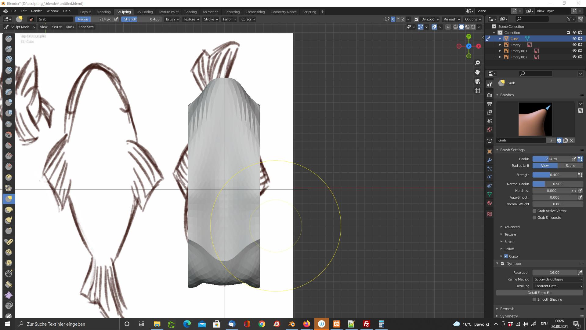 Sculpting in Blender: Fisch
