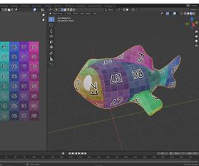 UV-Mapping: Goldfisch