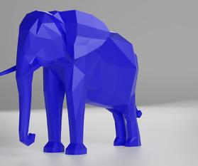 Low Poly Afrikanischer Elefant Teil 3