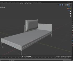 3D Visualisierung: Couch für VR/AR und Print Teil 2