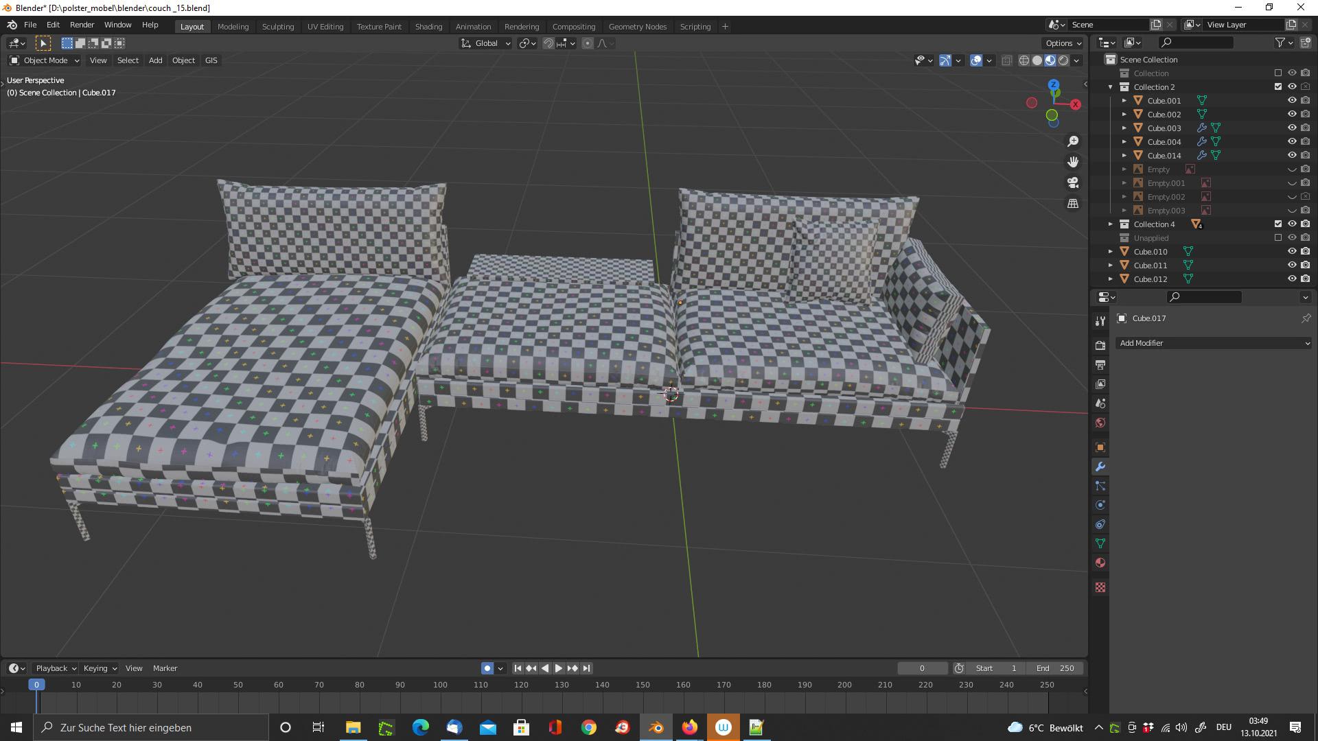 UV Mapping Couch für V/AR