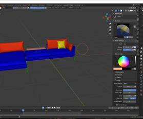3D Visualisierung: Couch für VR/AR und Print Teil 5